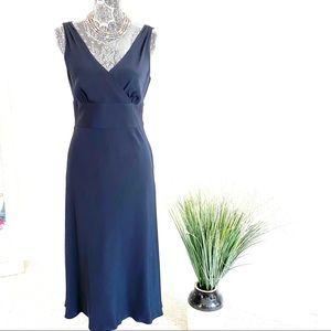J.Crew Navy Blue Silk Sleeveless Sophia Dress
